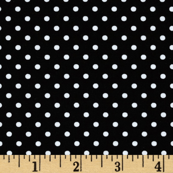 Michael Miller Petit Point Black Fabric