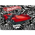 Hot Wheels Fast Car Fleece Panel Black/White