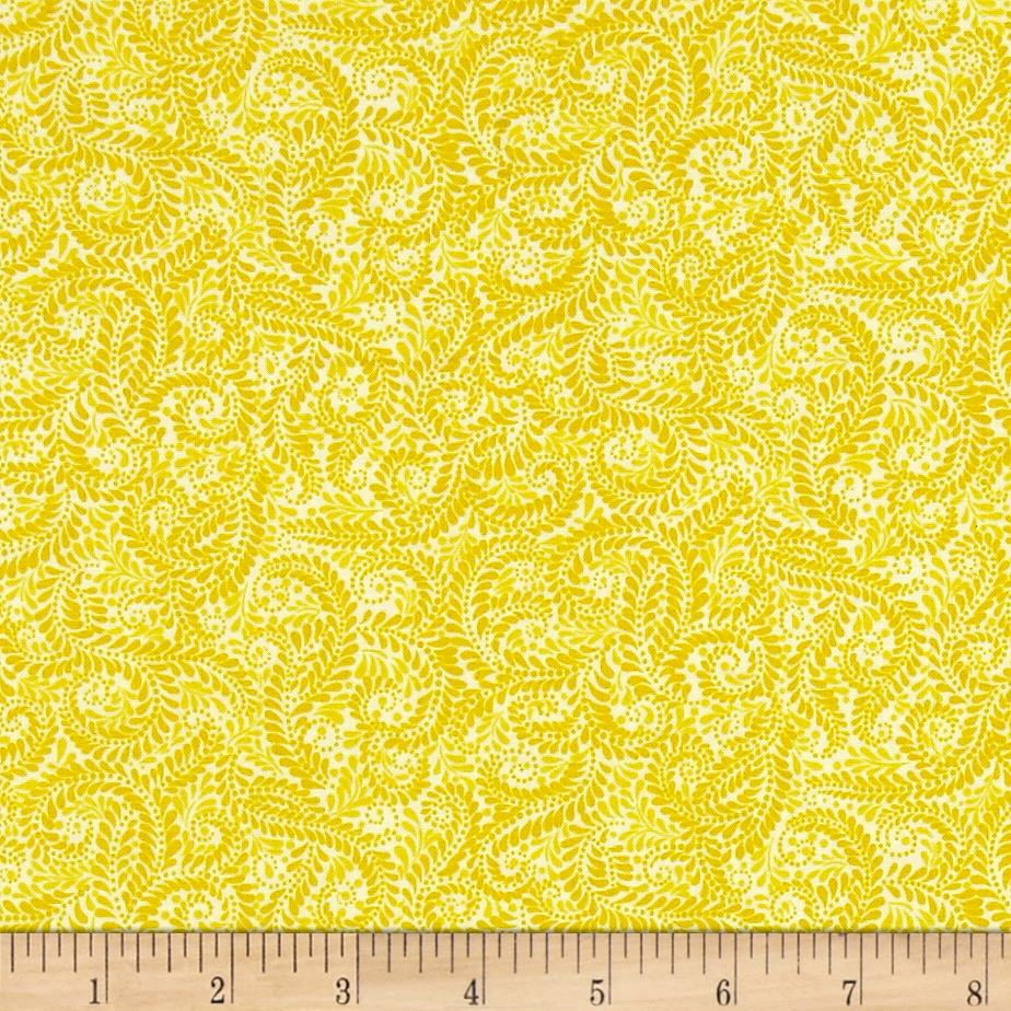 Liberty Garden Feathered Ferns Light Yellow