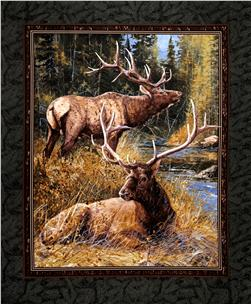"Wild Wings Lazy Afternoon Wall Hanging 36"" Panel Multi"
