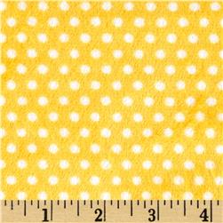 Shannon Minky Cuddle Classic Swiss Dot Sunshine/Snow