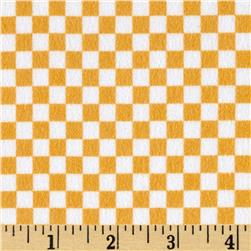 Riley Blake On Our Way Flannel Checkboard Yellow