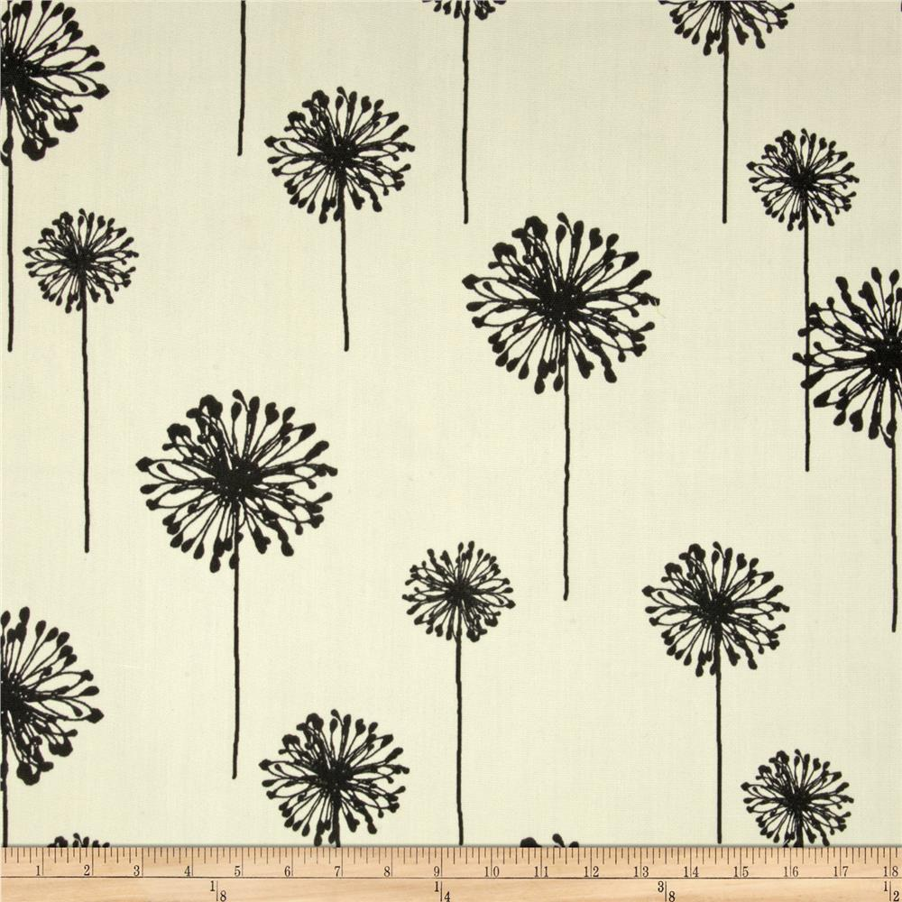 Premier Prints Indoor/Outdoor Dandelion Ebony/Ivory