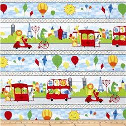Big City Friends Repeating Stripe Multi