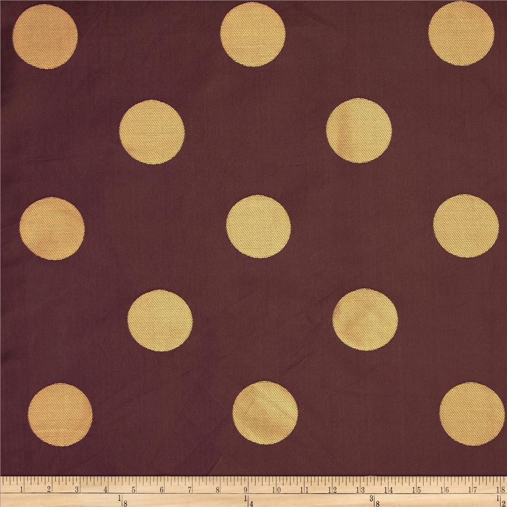 World wide aldo large dot jacquard wine discount for Cloth world fabrics
