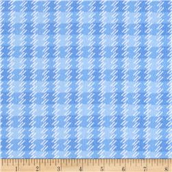 Kanvas Zoo Baby Flannel Zoo Plaid Blue