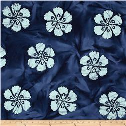 Indian Batik Hibiscus Royal