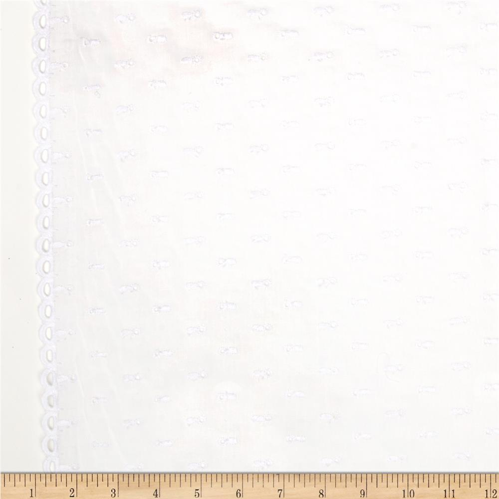 Imperial Eyelet Flounce Loop Border White