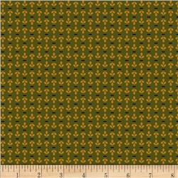 Pomegranate Lane Petals Stripe Gold/Green