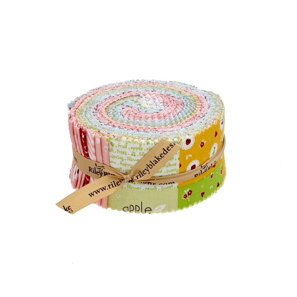 "Riley Blake Sweet Orchard 2.5"" Rolie Polie"