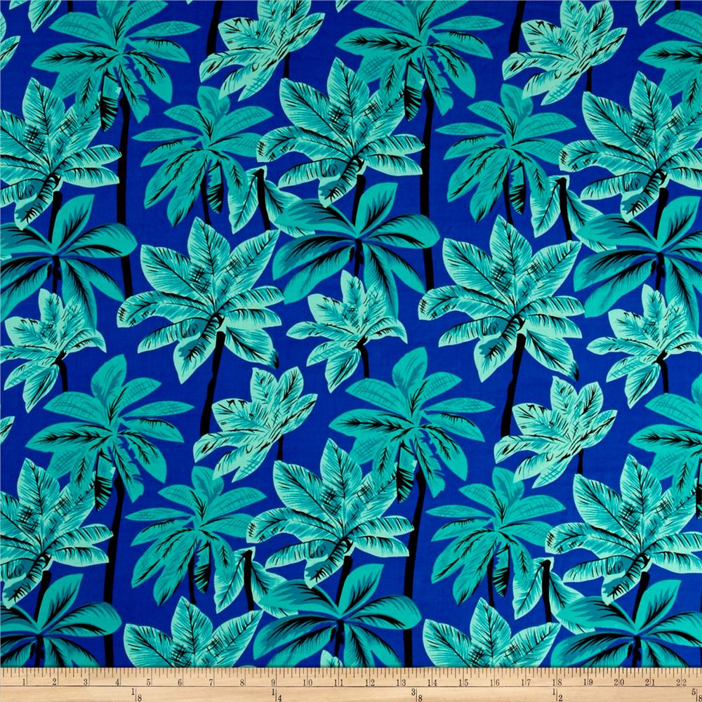 Rayon Challis Tropical Teal/Black