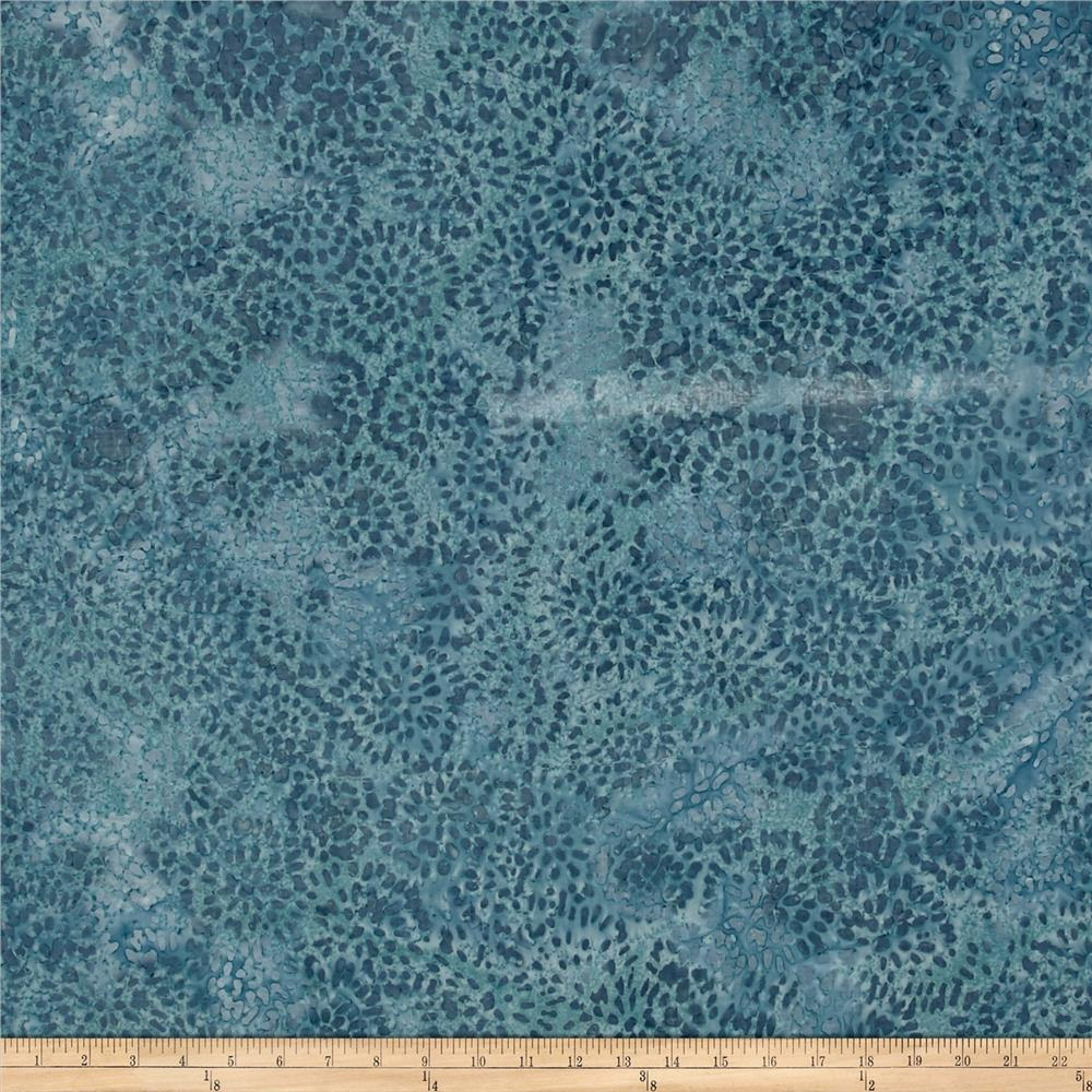 Indian Batik Abstract Floral Blue