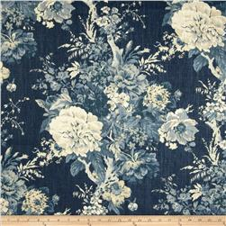Waverly Ballad Bouquet Blend Indigo Blue
