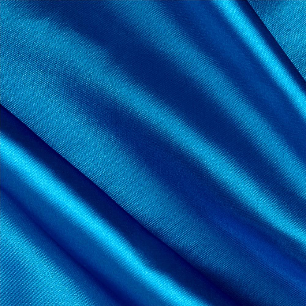 Stretch Charmeuse Satin Turquoise Fabric