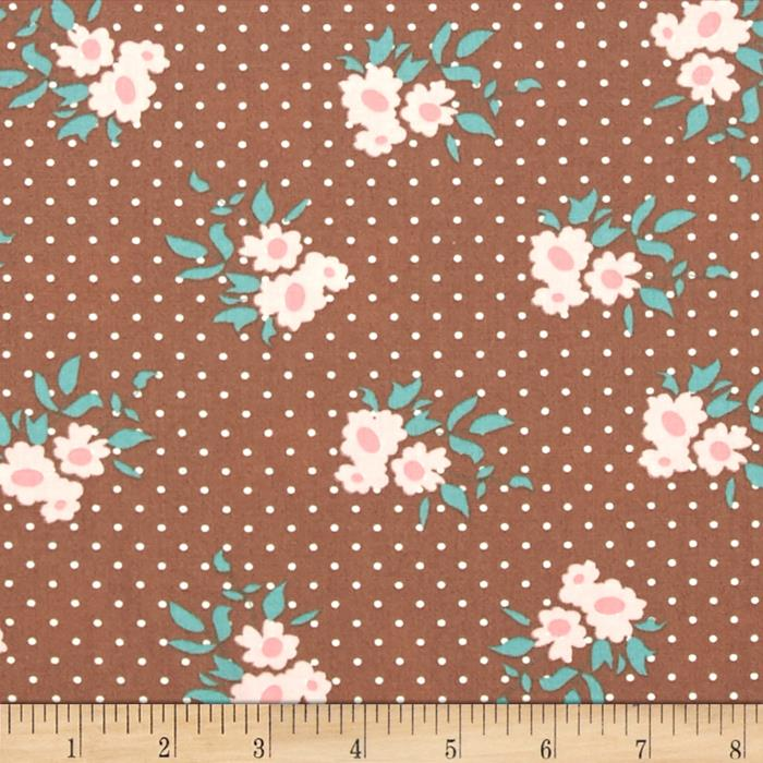 Moda Kindred Spirits Medium Floral Brown