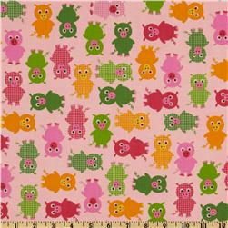 Urban Zoologie Baby Pigs Bright Fabric