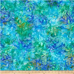 Timeless Treasures  Tonga Batik Jamboree Tropical Leaves Aruba