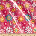 Riley Blake Girl Crazy Laminate Floral Pink