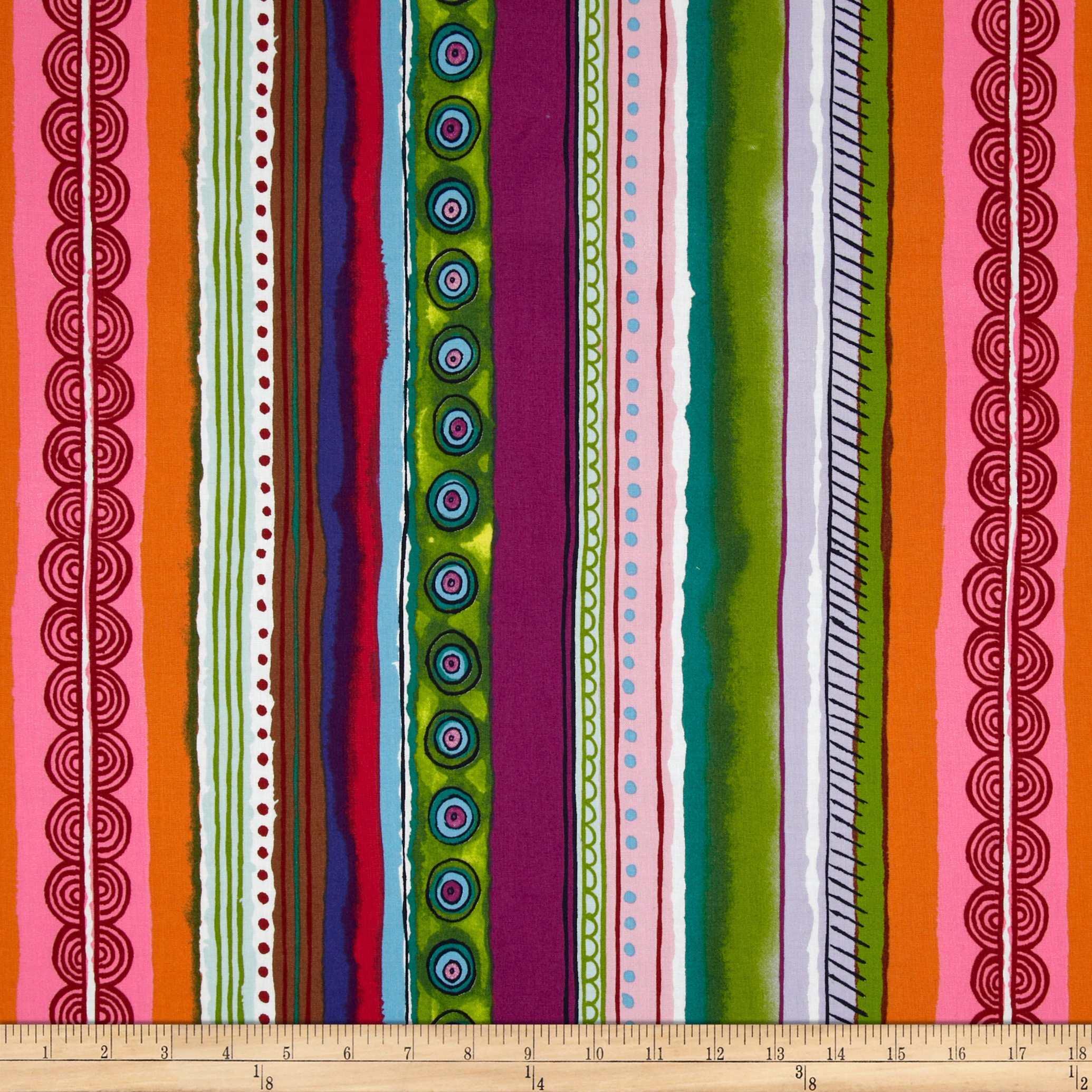 Folklorico Querida Serape Stripe Multi Fabric