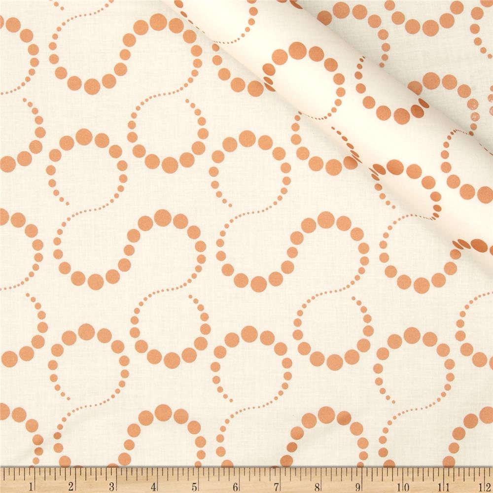 Orbit Metallic Swirl Dot Copper/Cream