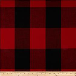 Wool Blend Large Buffalo Plaid Red