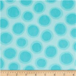 Minky Cuddle Fly Away Spot Dot Turquoise Fabric