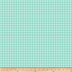 Bolt By Girl Charlee Desert Sky Jersey Knit Gingham Mint