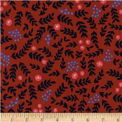 Cotton + Steel Rifle Paper Co. Wonderland Rose Garden Crimson