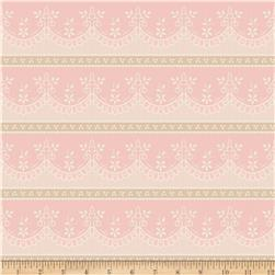 Riley Blake Raspberry Parlour Lace Pink Fabric