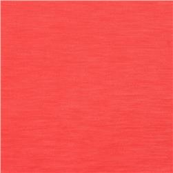 European Linen/Silk Blend Satin Coral