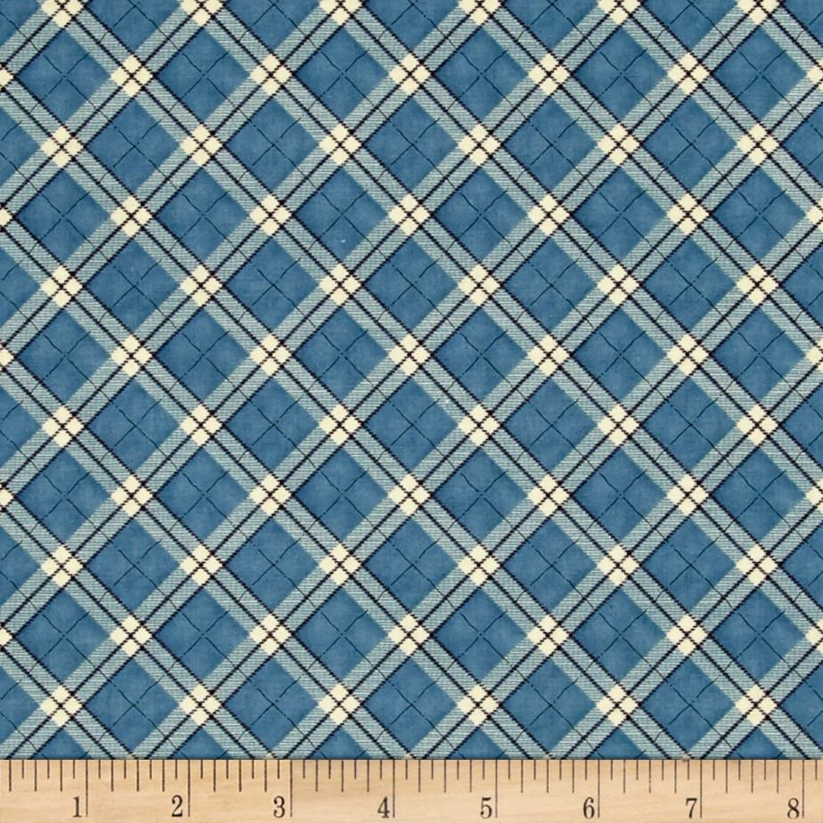 My Precious Quilt Plaid Blue Fabric By The Yard