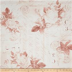 "Tim Holtz Eclectic Elements 108"" Quilt Backing Rose Parcel Red"
