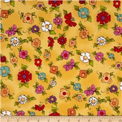 Loralie Designs Happy Dog Happy Blooms Yellow