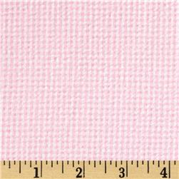Cotton Seersucker Check Pink/White