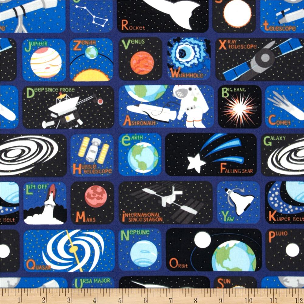 Object moved for Space fleece fabric