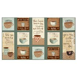 "But First, Coffee! Craft 24.5"" Panel Multi"