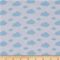 Dreamland Flannel Dream Clouds White/Dreamy Blue