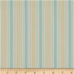 Subtle Skies Vertical Stripes Yellow/Blue/White