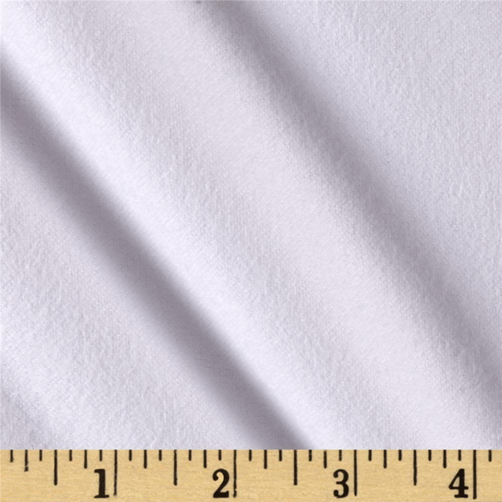 Fluffy Flannel Solids White
