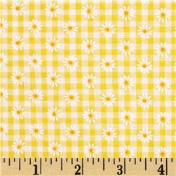Woven 1/8'' Daisy Gingham Yellow