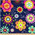 Michael Miller Peppy Petals Navy