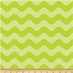 Riley Blake Wave Tone on Tone Lime