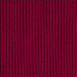 2x1 Cotton Rib Knit Magenta