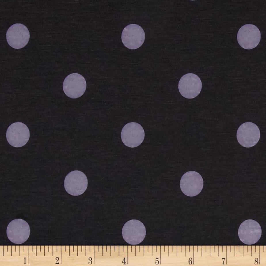 Cotton Lycra Jersey Knit Polka Dots Black/Grey