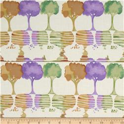 Watercolor Garden Trees Cream