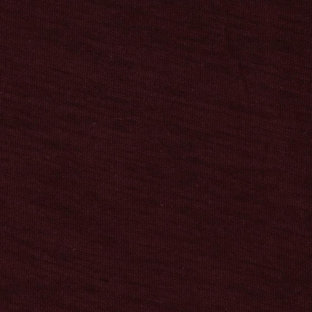 Jersey Cotton Slub Knit Warm Burgundy