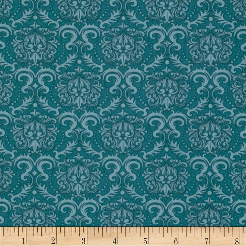 Seams Like Old Times Damask Teal