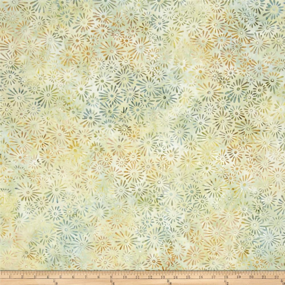 Wilmington Batiks Flower Field Light Green