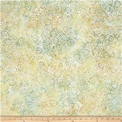 Batavian Batiks Flower Field Light Green