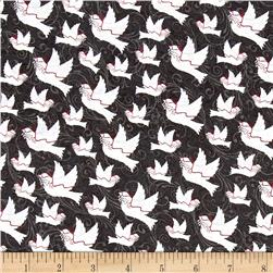 Holiday Homecoming Doves Black